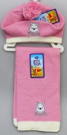 CAPPELLO BASCO + SCIARPA DISNEY WINNIE THE POOH Colore Rosa