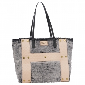 BORSA A SPALLA Fashion bag reversibile - HOY FUR CHIC
