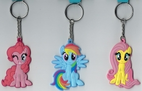 PORTACHIAVE Vinile MY LITTLE PONY Fluttershy - Pinkie Pie - Rainbow Dash