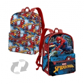 BORSA ZAINO Zainetto Free Time Reversibile - SPIDERMAN