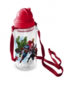 BORRACCIA in Plastica con cannuccia MARVEL AVENGERS