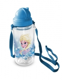 BORRACCIA in Plastica con cannuccia DISNEY - FROZEN ELSA