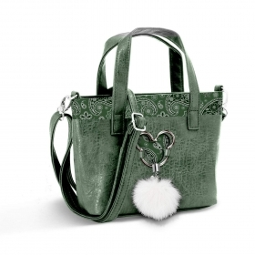 BORSA A MANO Messenger - in ECOPELLE - Disney MICKEY  Paisgreen