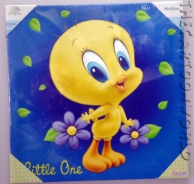 Quadro Quadretto in tela - DISNEY - LOONEY TUNES - TITTY - 35x35 cm