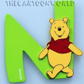 Lettere in Legno Adesive DISNEY WINNIE THE POOH - N