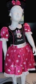 DRESS COSTUME CARNIVAL, DISNEY MINNIE MOUSE 5-6 YEARS