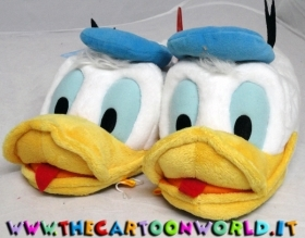 PANTOFOLE CHIUSE in PELUCHE DISNEY Paperino DONALD nr 29/31