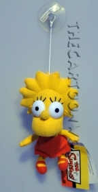 PLUSH with Suction cup DISNEY SIMPSONS - Lisa - 18 cm