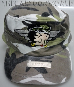 HAT with Visor - BEANIE Disney BETTY BOOP Military