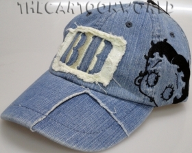 HAT with Visor - BEANIE Disney BETTY BOOP - denim