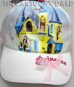 HAT with Visor - CAP, Disney PRINCESSES, white - 54 cm