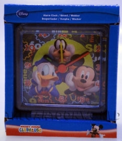 ALARM CLOCK DISNEY MICKEY mouse DONALD duck and GOOFY 6x6 cm