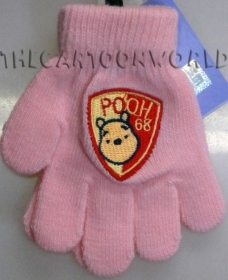 GLOVES MAGICAL, COLORFUL DISNEY WINNIE THE POOH - pink