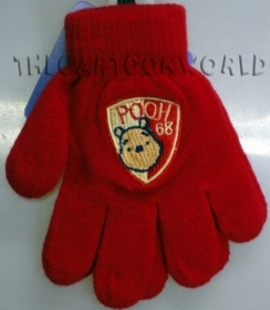 GLOVES MAGICAL, COLORFUL DISNEY WINNIE THE POOH - red