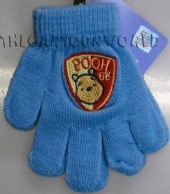 GLOVES MAGICAL, COLORFUL DISNEY WINNIE THE POOH - blue