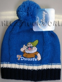 HAT with Pom poms DISNEY 7 Dwarves - AEOLUS - blue
