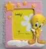 PHOTO picture FRAME Resin DISNEY LOONEY TUNES - TITTI - IDEA wedding FAVOR