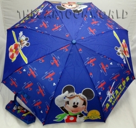 UMBRELLA Foldable DISNEY MICKEY mouse and DONALD duck - BLUE