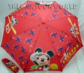 UMBRELLA Foldable DISNEY MICKEY mouse and DONALD duck - Red