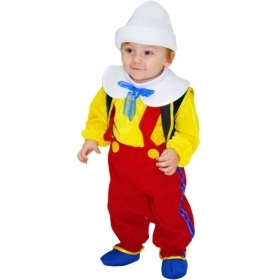 DRESS COSTUME Mask CARNIVAL BABY - PINOCCHIO