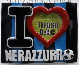 PHOTO FRAME in 3D - I LOVE the Nerazzurri - INTER