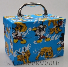 BOX JEWELRY box with Handle Disney MICKEY mouse and PLUTO