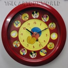 WALL CLOCK DISNEY MICKEY mouse and FRIENDS