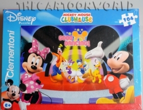 PUZZLE CLEMENTONI DISNEY TOPOLINO e MINNIE CLUB HOUSE - 104 PEZZI