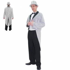 DRESS COSTUME CARNIVAL Mask Adult TAILCOAT SILVER MAN
