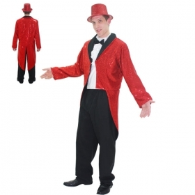 DRESS COSTUME CARNIVAL Mask for Adults RED TAILCOATS MAN