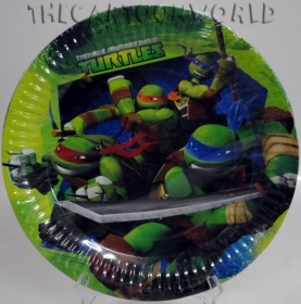 DECORATIONS, Birthday Party Plates DISNEY NINJA TURTLES - 23 cm