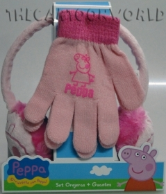 Fantastic Set Earmuffs Warms ears and GLOVES set - DISNEY - PEPPA PIG