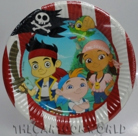 DECORATIONS, Birthday Party Plates DISNEY JAKE THE PIRATE - 19.5 cm