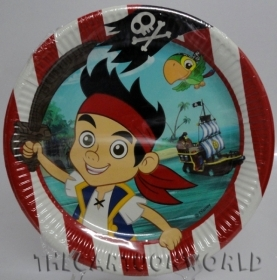 DECORATIONS, Birthday Party Plates DISNEY JAKE THE PIRATE - 23 cm