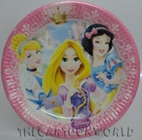 DECORATIONS, Birthday Party Plates DISNEY PRINCESSES - 23 cm