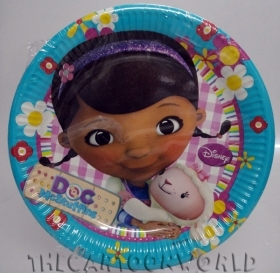 DECORATIONS, Birthday Party Plates DISNEY DOCTOR soft toy - 23 cm