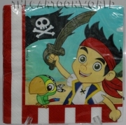 DECORATIONS Birthday Party NAPKINS DISNEY - JAKE THE PIRATE