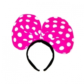 FRONTINO BOW HOT PINK - FANCY DRESS , PARTIES , THEME PARTIES