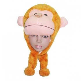 HAT Shaped 3D SOFT PLUSH toy - MONKEY