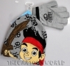 Fantastic Set of HAT and GLOVES - DISNEY - JAKE THE PIRATE