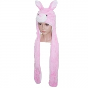 HAT Shaped 3D WITH hand warmer SOFT PLUSH - BUNNY