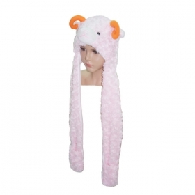 HAT Shaped 3D WITH hand warmer SOFT PLUSH toys - ARIES