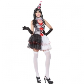 DRESS COSTUME CARNIVAL Mask Adult PIERROTTINA