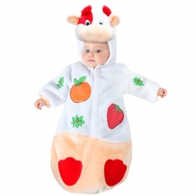 DRESS COSTUME Mask CARNIVAL COW FRUTTOLO 3-6 months