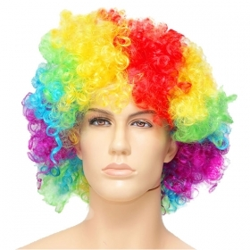 FANTASTIC WIG CLOWN MULTICOLOR - ADULT THEMED PARTY , PARTY , DISGUISE