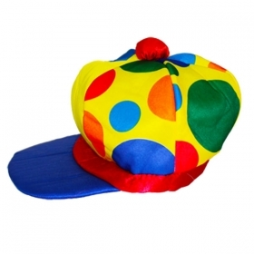 HAT CLOWN CLOWN POLKA-DOT - CARNIVAL , THEME PARTY , PARTY AND NOT ONLY