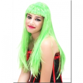FANTASTIC WIG VALENTINA LONG GREEN - CARNIVAL , THEME PARTIES , PARTY