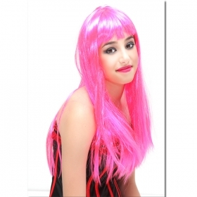 FANTASTIC WIG VALENTINA FUCHSIA - CARNIVAL , THEME PARTIES , PARTY