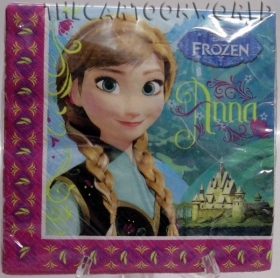 DECORATIONS Birthday Party NAPKINS DISNEY FROZEN Anna Elsa