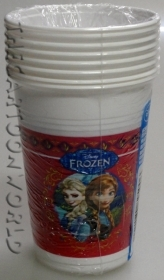 DECORATIONS Birthday Party GLASSES DISNEY - FROZEN Anna and Elsa